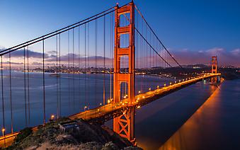 Мост Золотые ворота. Сан-Франциско (Код изображения: 16061)