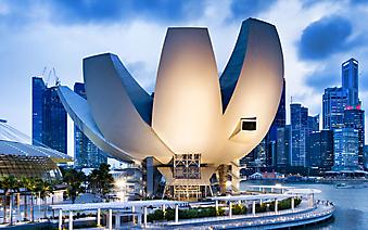 Здание музея ArtScience. Сингапур (Код изображения: 16063)