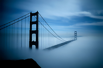 Мост Золотые ворота в тумане. Сан-Франциско (Код изображения: 16069)
