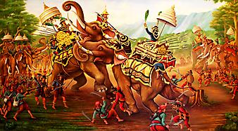 Боевые слоны. (Код изображения: 17001)