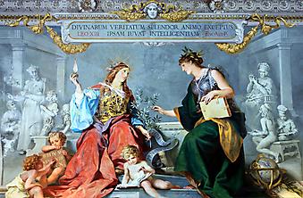 Фреска в музее Ватикана. (Код изображения: 17002)