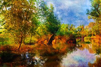 Пейзаж. (Код изображения: 17003)