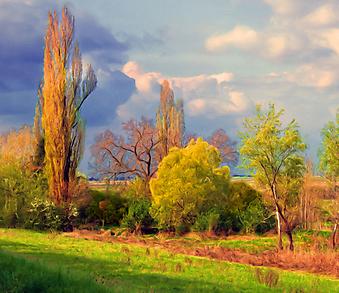 Облачный день. (Код изображения: 19035)