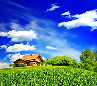 Дом в облаках. (Код изображения: 19038)