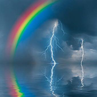 Молния и радуга над озером (Каталог номер: 19074)