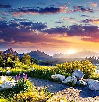 Вид на горное озеро, Татры (Каталог номер: 19086)