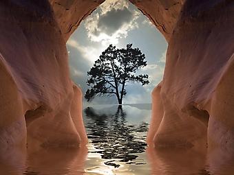 Пещера в воде (Каталог номер: 19090)