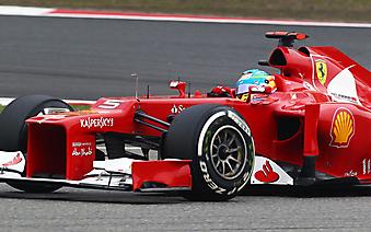 Болид команды Ferrari с Фернандо Алонсо за рулем. (Код изображения: 20043)