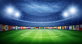 Футбольное поле с национальными флагами (Каталог номер: 20131)