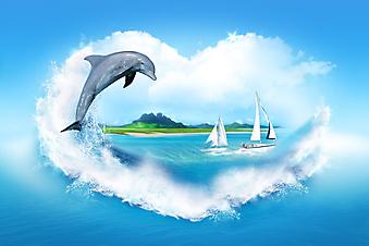 Я люблю море. (Код изображения: 21008)