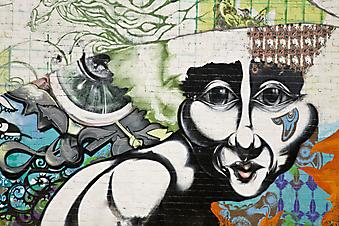 Граффити на стене. (Код изображения: 21013)