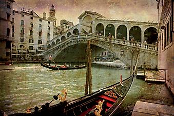 Канал с Моста Риальто. (Код изображения: 21021)