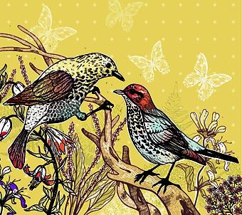 Птицы на ветке (Каталог номер: 21069)