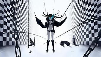 Закованная в цепи девочка-демон. (Код изображения: 23002)