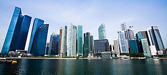 Панорама города, Сингапур. (Код изображения: 02001)