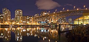 Мост в сумерках, Ванкувер. (Код изображения: 02002)