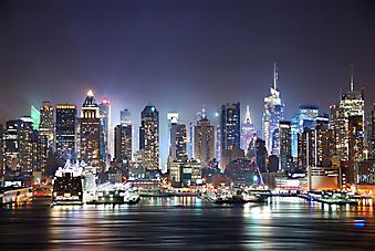 Панорама Манхэттена, Нью-Йорк. (Код изображения: 02053)