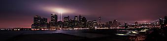 Панорама ночного Нью-Йорка. (Код изображения: 02093)