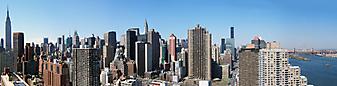 Широкоформатная панорама Нью-Йорка. (Код изображения: 02094)