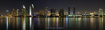 Панорама Сан-Диего в штате Калифорния. (Код изображения: 02096)