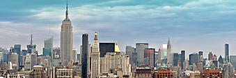 Нью-Йорк под голубым небом. (Код изображения: 02099)