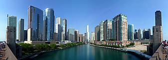Река разделившая Чикаго, США. (Код изображения: 02101)