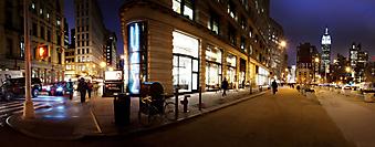 Улица Тайм Сквер в Нью-Йорке. (Код изображения: 02104)