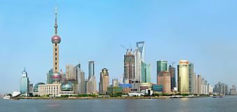 Город Lujiazui в Китае. (Код изображения: 02109)