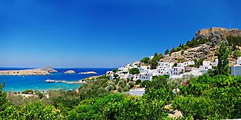 Крепость на вершине холма, Греция. (Код изображения: 02111)