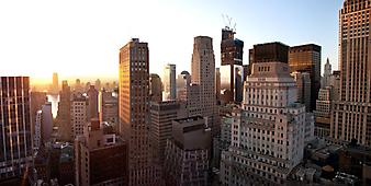 Нью-Йорк встречает рассвет. (Код изображения: 02114)