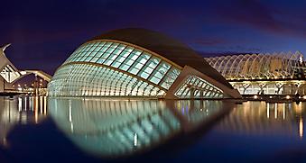 Здание музея искусства в Валенсии, Испания. (Код изображения: 02118)