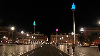 Площадь в Ницце, Франция. (Код изображения: 02121)