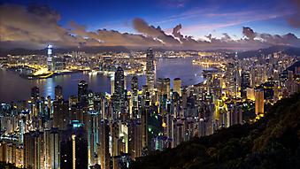 Стильные небоскребы Гонконга, Китай. (Код изображения: 02122)