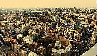 Панорама Киева, Украина. (Код изображения: 02123)