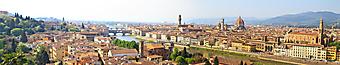 Панорама старой Флоренции. Италия. (Код изображения: 02273)