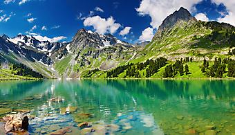 Горное озеро. (Код изображения 03004)