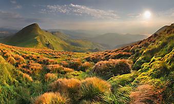 Горный пейзаж. (Код изображения: 03005)
