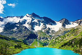 Горное озеро. (Код изображения: 03017)