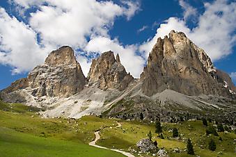 Три вершины в Доломитовых Альпах, Италия. (Код изображения: 03024)