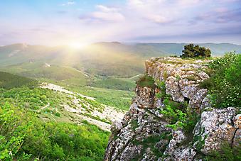 Красивый горный пейзаж. (Код изображения: 03030)