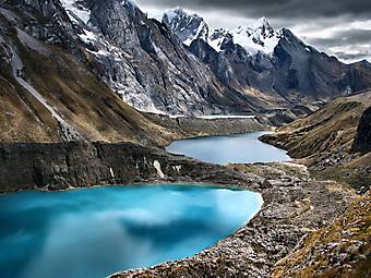 Три лагуны, Huayhuash Trek, Перу. (Код изображения: 03037)