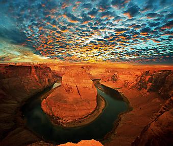 Подкова Реки Колорадo, Аризона. (Код изображения: 03043)