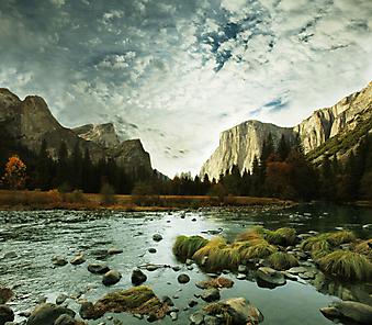 Йосемитская долина. (Код изображения: 03044)