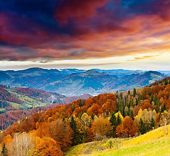 Красивый закат. (Код изображения: 03045)