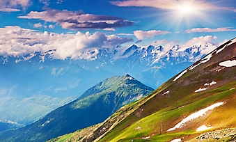 Потрясающий вид на горные луга (Каталог номер: 03074)