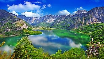 Горное озеро в Гальштате, Австрия (Каталог номер: 03076)