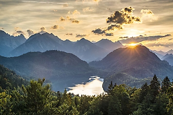 Горное озеро Гросер-Альпзе в Баварии (Каталог номер: 03080)