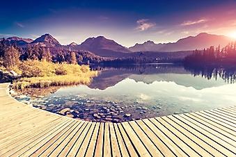 Пристань на горном озере (Каталог номер: 03086)