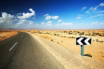 Дорога в пустыне. (Код изображения: 06008)