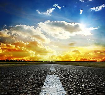 Большая асфальтированная дорога. (Код изображения: 06015)